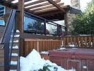 deckrailings30 - Denver Railing w/glass panels and hammered top.