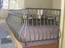 deckrailings29 - Custom railing with small cap top and belly pickets